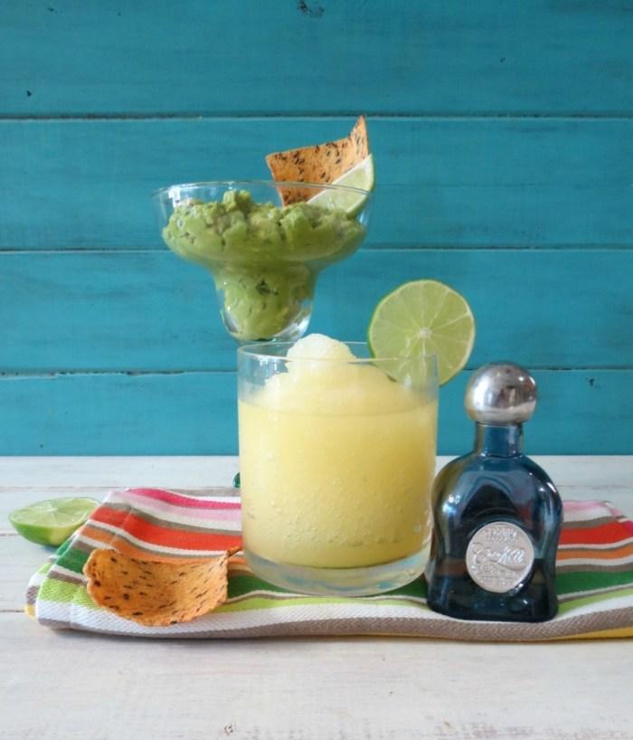 Margarita Lime Guacamole and Skinny Lime Margarita