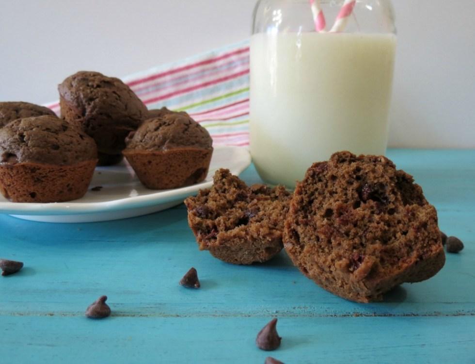 Triple Chocolate Mini Muffins