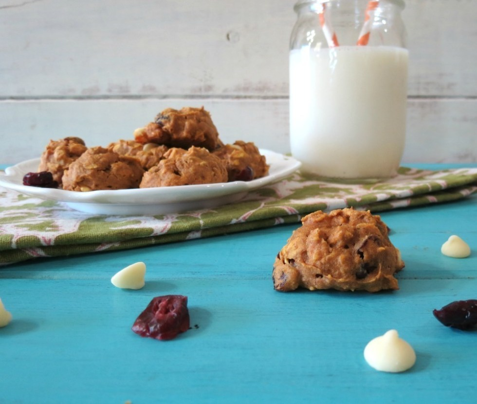 White Chocolate Cranberry Pumpkin Oatmeal Cookies