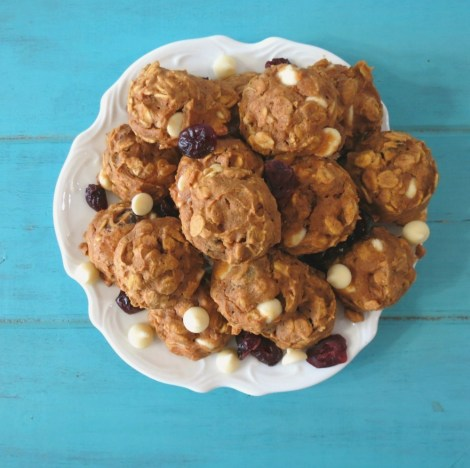 Cranberry White Chocolate Pumpkin Oatmeal Cookies