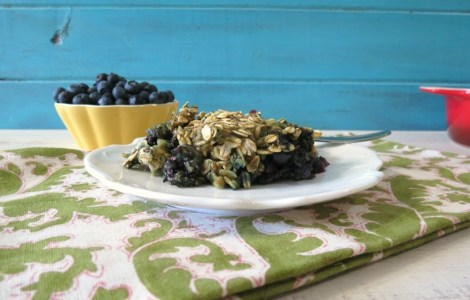Power it Up Blueberry Vanilla Baked Oatmeal