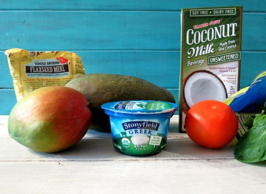 Tropical Green Monster Debloating Smoothie Ingredients