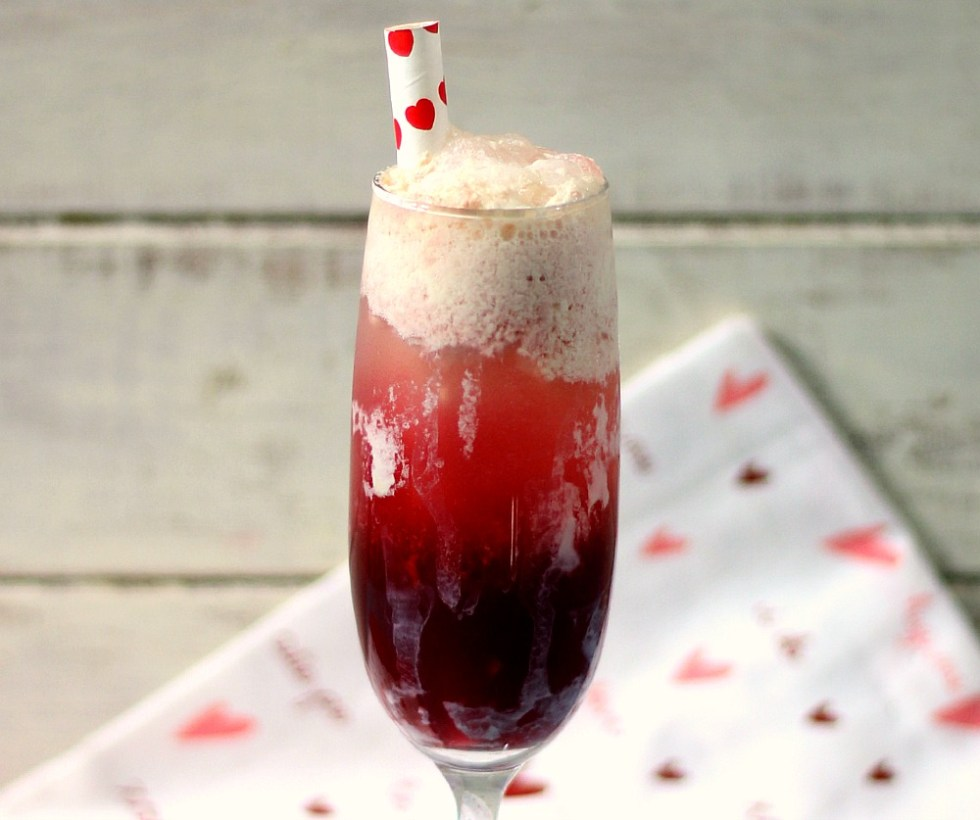 Cherry Spritzer Ice Cream Float