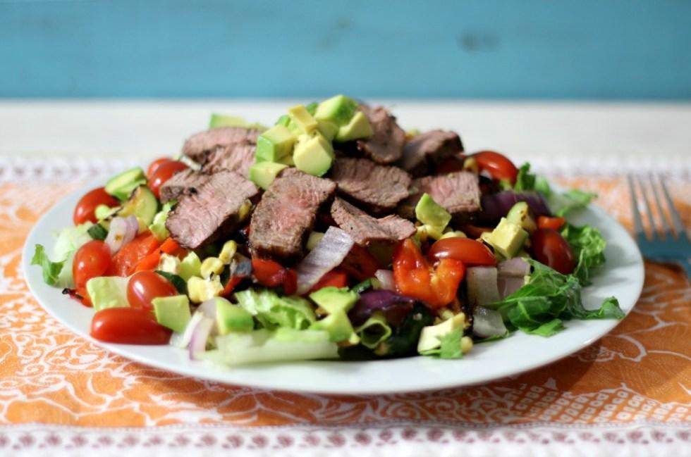 Grilled Vegetable and Tri-Tip Salad