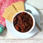 Hearty Burgundy and Chocolate Chili #SundaySupper