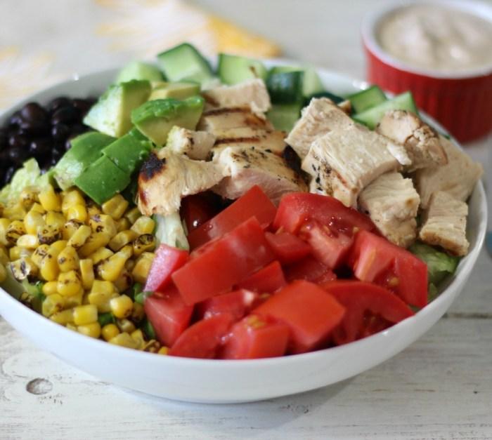 BBQ Chicken Salad w BBQ Ranch Dressing