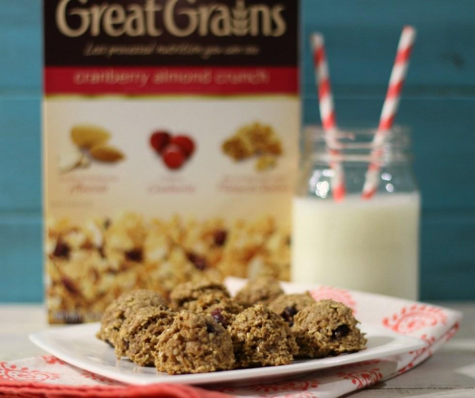 Cranberry Almond Breakfast Cookies