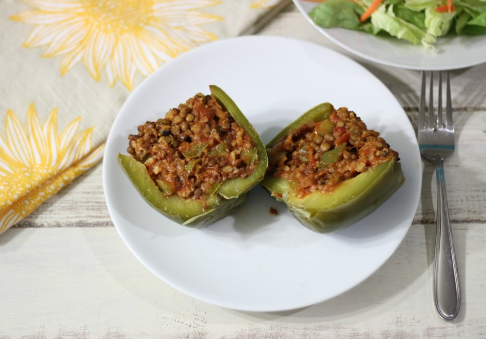 Lentil Stuffed Peppers
