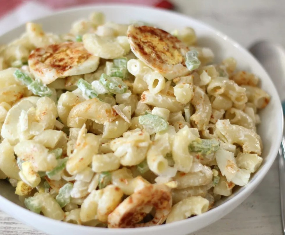 Lightened Up Macaroni Salad #SundaySupper