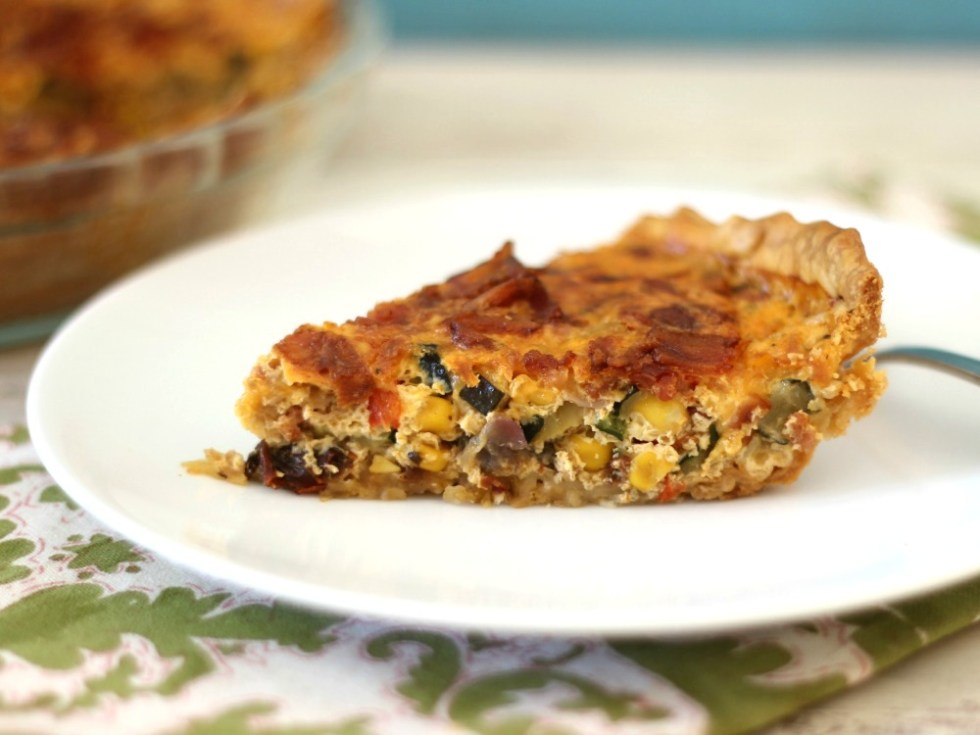 Bacon and Vegetable Egg Pie