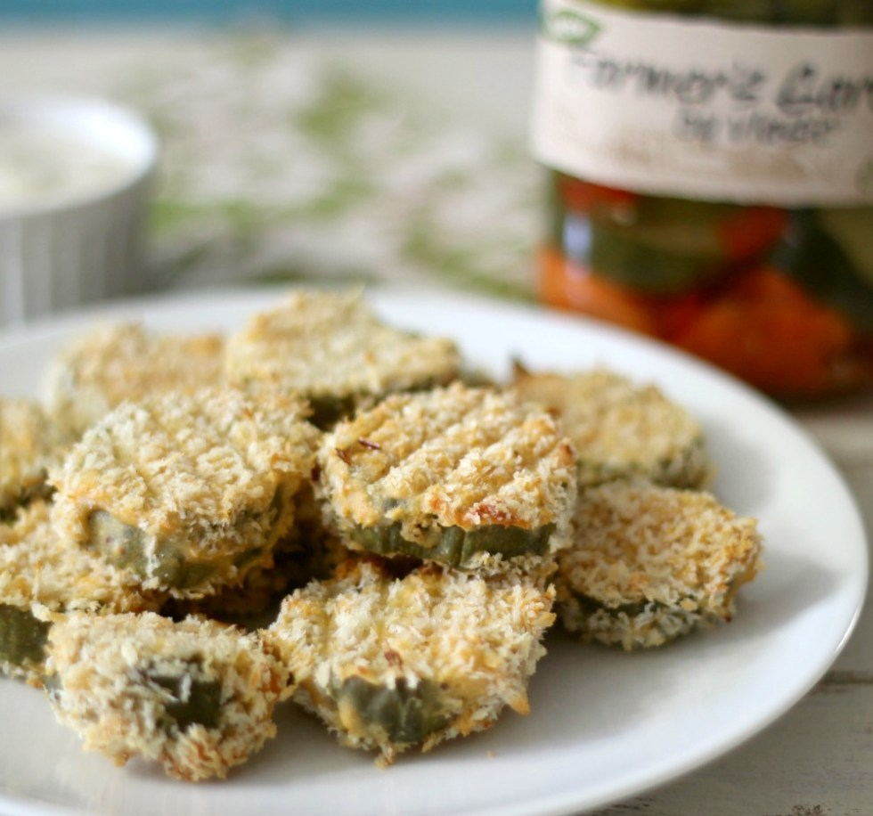Baked Pickles with Ranch Dressing