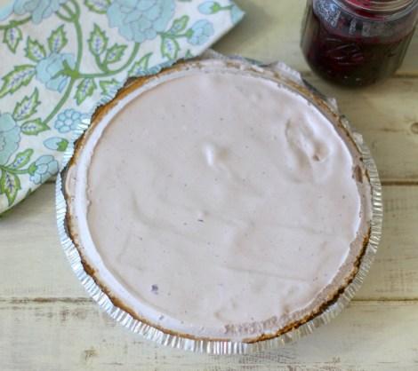 Blueberry Ice Cream Pie
