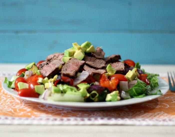 Grilled Vegetables and Tri-Tip Salad