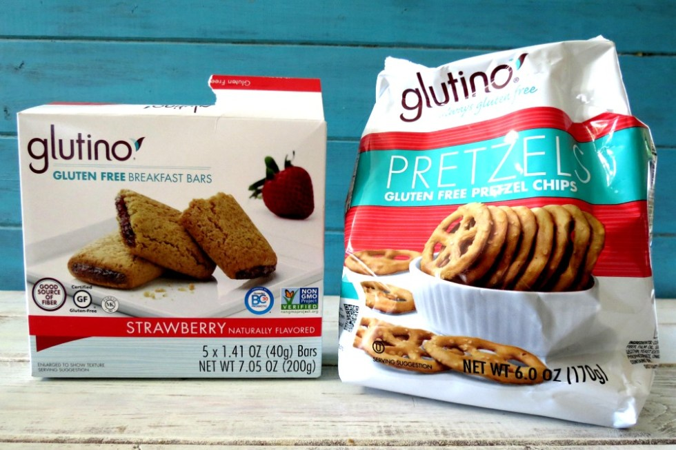Glutino Snack Bars and Pretzels
