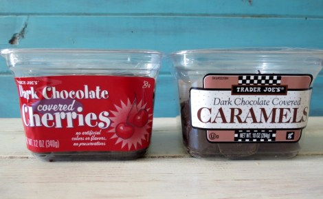 Trader Joe's Chocolate Covered Cherries and Dark Chocolate Caramel