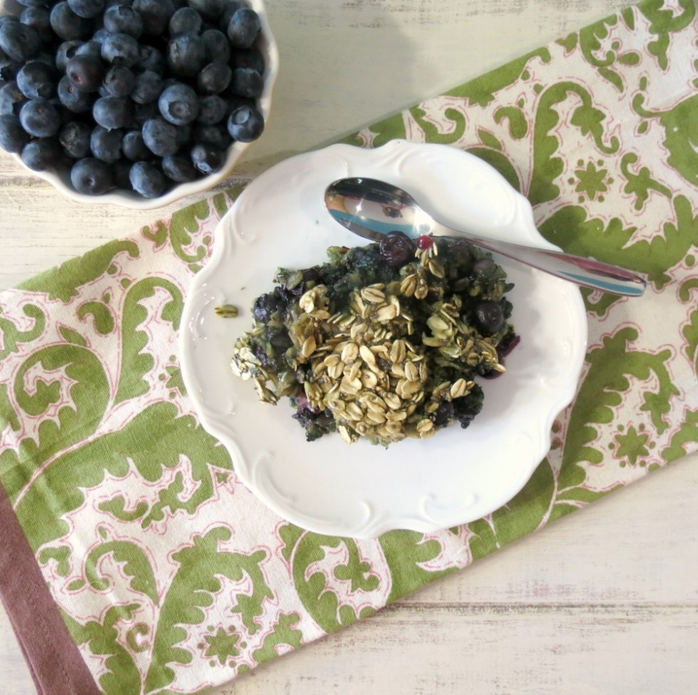 Power it Up-Blueberry Vanilla Baked Oatmeal