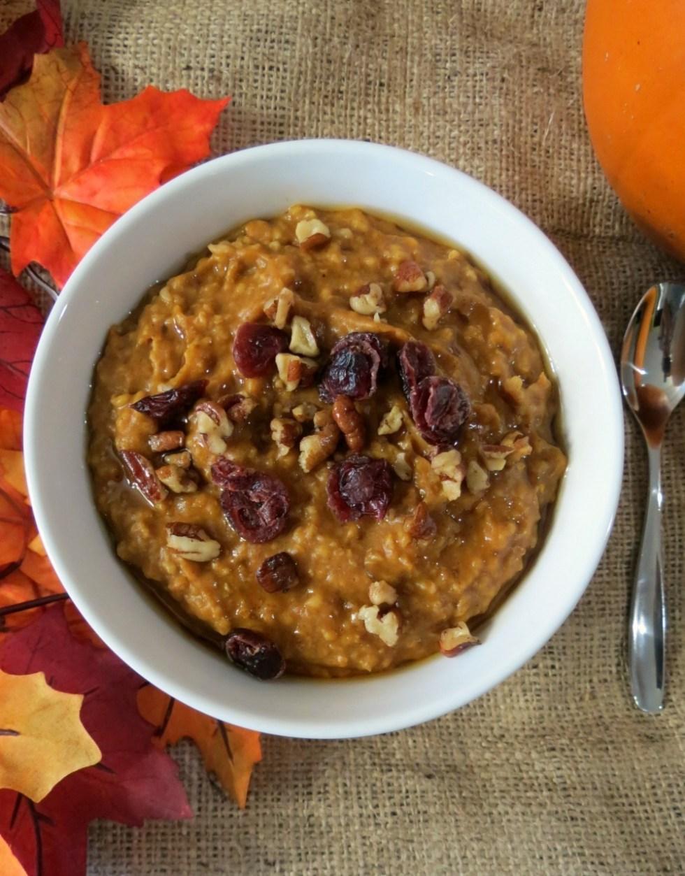 Pumpkin Oatmeal in Crockpot