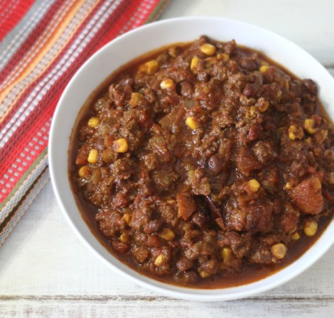 Tex Mex Chili in Crockpot