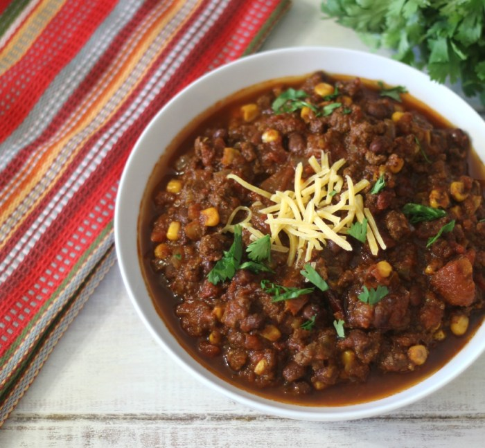 Tex Mex Chili in Crock-Pot