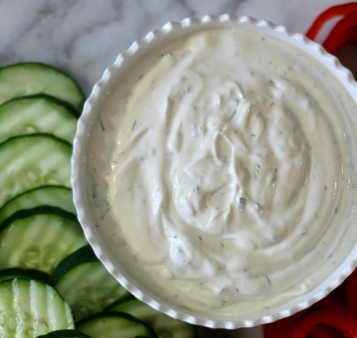 Vegetable Dill Dip #createwithcrisp