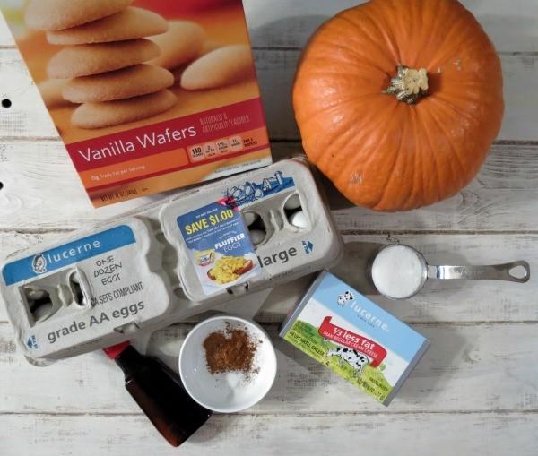 Individual Pumpkin Cheesecake Ingredients