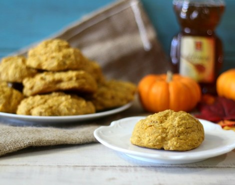 Whole Wheat Pumpkin Drop Biscuits