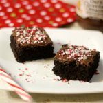 Candy Cane Peanut Butter Brownies