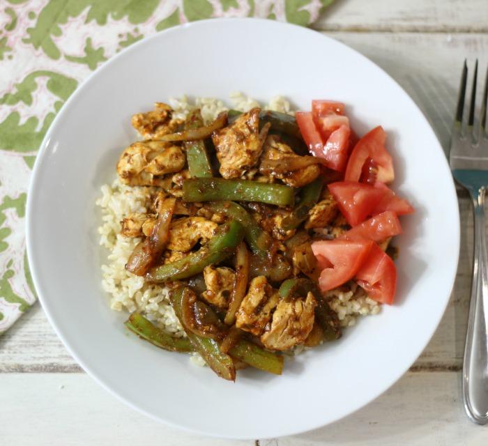 Chicken Faijta Rice Bowl #SundaySupper #McSkilletSauce