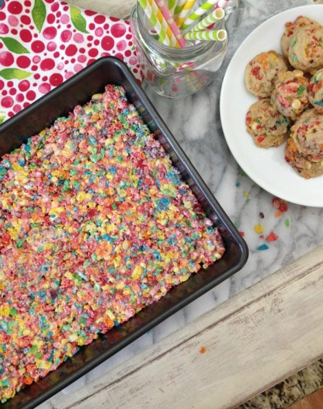 Fruity Pebbles Cookies | Peanut Butter and Peppers