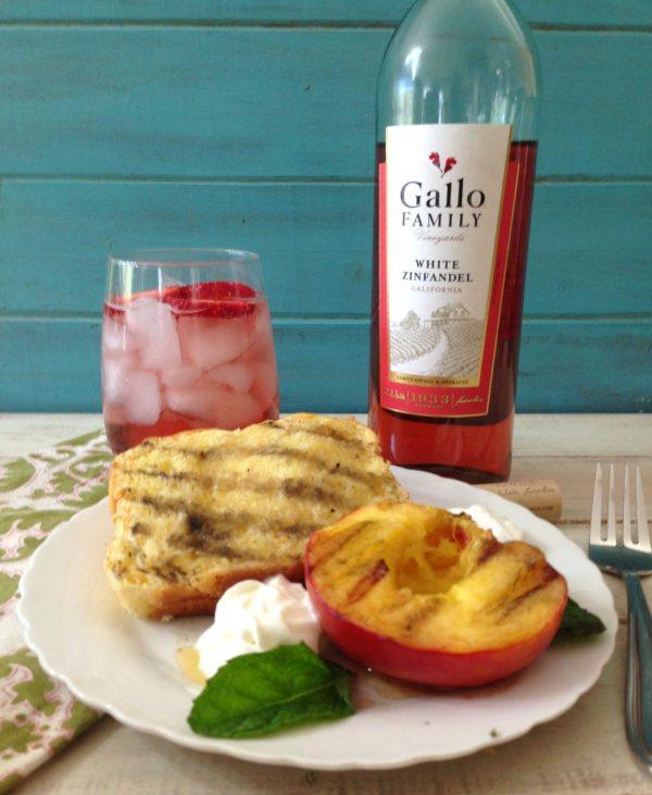 Grilled Peaches with Brioche #SundaySupper