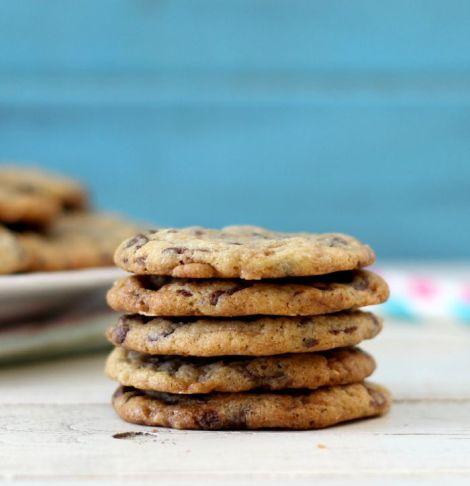 Dark Chocolate Wafer Toffee Cookies