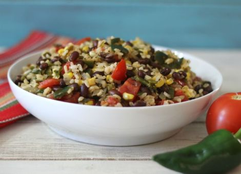 Vegetarian Mexican Rice Bowl