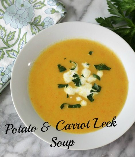 Potato Carrot Leek Soup #SundaySupper