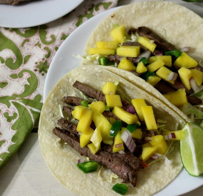 Sweet and Spicy Asian Beef Tacos