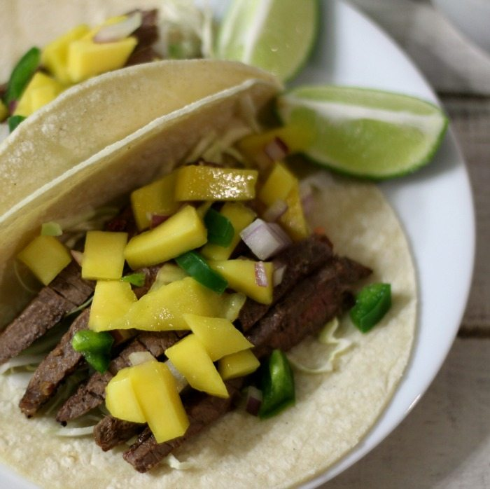 Sweet and Spicy Asian Beef Tacos #SundaySupper