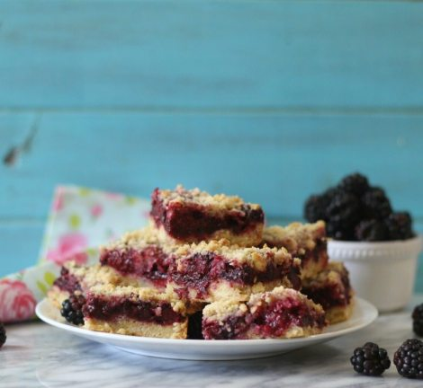 Blackberry Crumble Bars