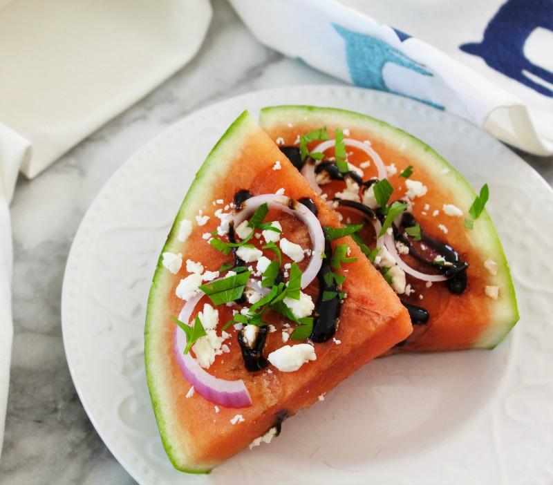 Mediterranean Watermelon Pizza