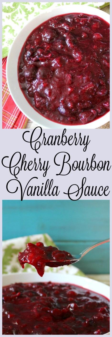 Cranberry Cherry Bourbon Vanilla Sauce