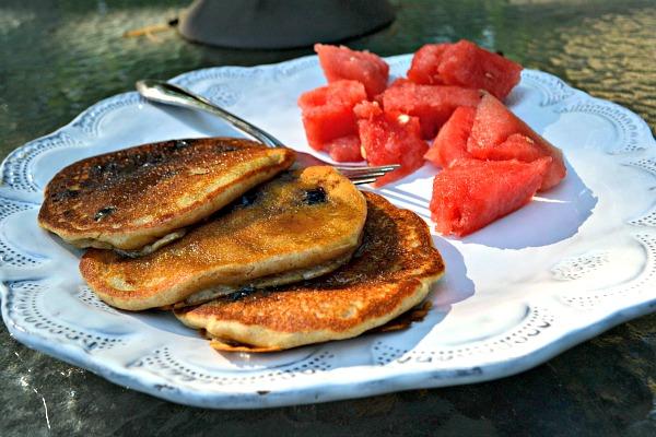 Banana Blueberry Pancake