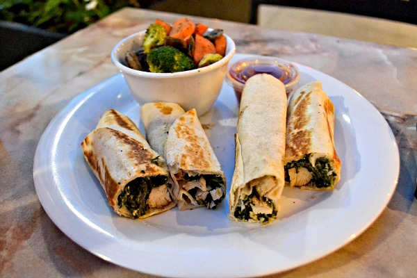 Zoes Kitchen Spinach Roll Ups gratitude overflowing - peanut butter runner