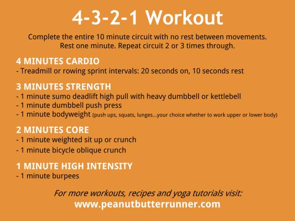 4-3-2-1 Workout - Peanut Butter Runner