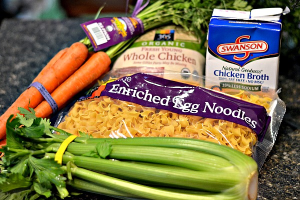 Chicken noodle soup ingredients