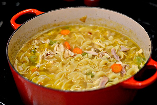 Made from Scratch Homemade Chicken Noodle Soup with Turmeric