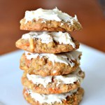Carrot Cake Cookies With Cream Cheese Frosting {Recipe}