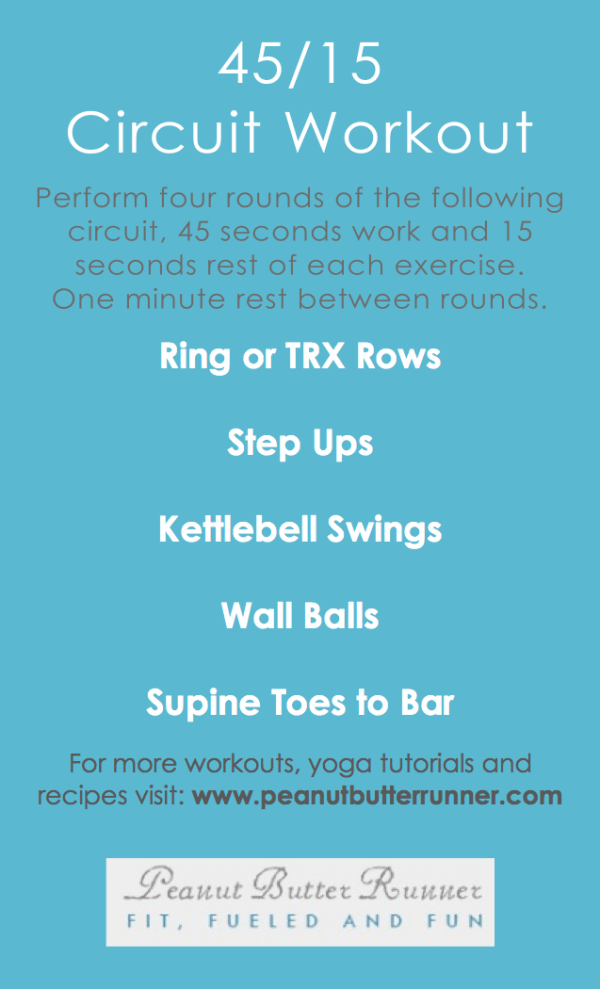 25-minute circuit workout featuring 5 exercises that target the whole body! Photo and video demonstrations included in post.