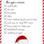 2014 Christmas Cookie Crusher Workout {Gym + Home Versions}