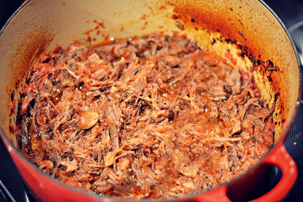 Three Ingredient Pot Roast Shredded