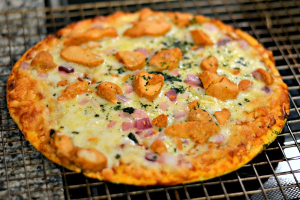 barbecue chicken pizza dinner