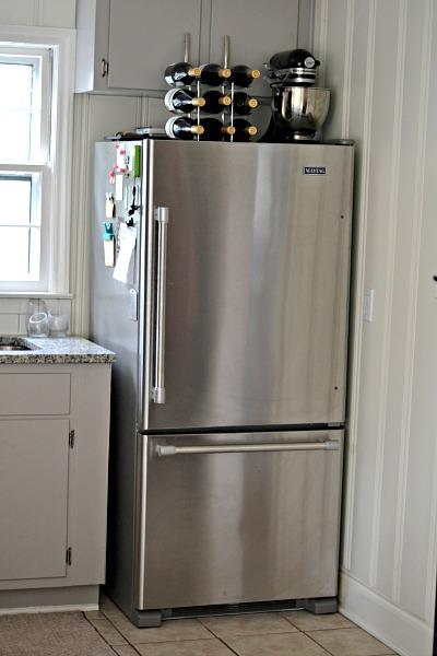 kitchen remodel fridge