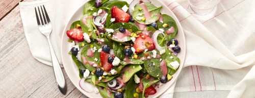 Berry Spinach Salad 1000x383